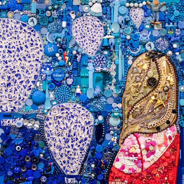 arte con material reciclado englobada