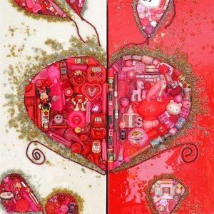 Arte con material reciclado almas gemelas